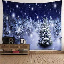 Christmas Tree Reindeer Prints Tapestry Wall Hanging Tapestry Xmas Decor E