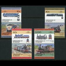 St Vincent Grenadines. 1985 Locomotives Trains neuf sans charnière (AX108)