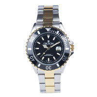 Croton Men's CA301295TTBK Quartz Date Black Bezel Two-Tone Bracelet 42mm Watch