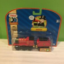 NEW RARE THOMAS & FRIENDS WOODEN RAILWAY JAMES TRAIN ENGINE WITH TENDER FREESHIP