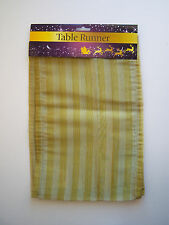 TABLE RUNNER GOLD CHRISTMAS FESTIVE
