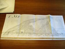 Leba Schmolsin b Stolp Umgebung riesen Landkarte  98 x 42 cm