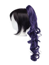 23'' Curly Pony Tail Clip Eggplant Purple Cosplay Wig NEW