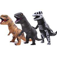 Skull Black Brown Dinosaur Suit Adult Costume Fancy Dress Suit Halloween