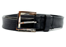 Diesel Bescu Women Leather Belt Black Size 34
