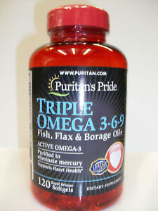 Triple Omega 3-6-9  3,000 mg 120 Softgels  Active Omega-3  Fish & Flax Oils