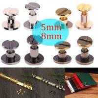 20 Stück 5/8mm Gürtel Schraube Leder Handwerk Chicago Nagel Messing Niet