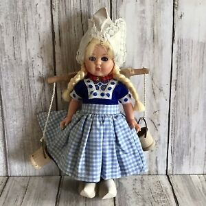 "Kitsch 6"" Dutch National Costume Souvenir Vintage Doll Sleeping Eyes VGC"