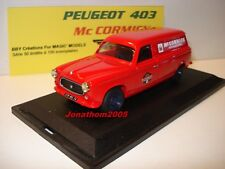 BBY CREATIONS PEUGEOT 403 FOURGONNETTE Mc CORMICK INTERNATIONAL au 1/43°