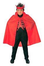 Widmann - Mantello Rosso Diavolo Lucifero Halloween Party Bambino Festa 3581r
