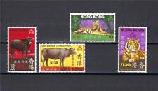 Hong Kong 1973-74 2/sets Lunar New years of Ox and Tiger MNH very fine
