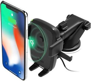 iOttie Wireless Qi Fast Charger Car Dash & Windshield Cell Phone Holder