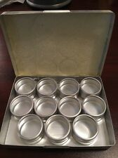 """87012DB-M Aluminum Storage Container Set 11 Piece 1-1/4"""" - Silver (Missing One)"""