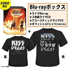 New KISS-KISS ROCKS VEGAS-JAPAN BLU-RAY+3 CD +T-SHIRT L