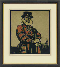 "London Types ""The Tower"" by William Nicholson Original 1898  Stone Lithograph"