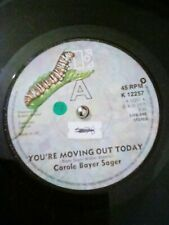 """Carole Bayer Sager – You're Moving Out Today Vinyl 7"""" Single UK K 12257 1977"""