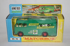MATCHBOX KING SIZE #K-5 RACING CAR TRANSPORTER, EXCELLENT, BOXED