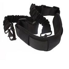 BOOMR Bungee Camera Strap by StatGear - BLACK/BLACK LOGO fits Canon, Nikon, Sony