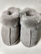Kirkland Signature Ladies' Shearling Slippers - Stone Grey