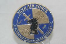 USAF 25th Air Force Command Chief Master Sergeant Freedom Challenge Coin