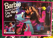 Barbie 1995 HTF Remote Control City Nights Cycle Mattel 7005 New