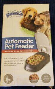 PAWISE Automatic Pet Feeder Dogs & Cats Food Dispenser Feeder 48hr Timer