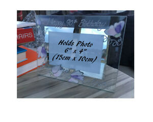 Personalised/Non personalised 90th Birthday Picture Photo Frames Land