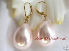 cadeaux de Noël11x16mm,rose coquillage perle,forme goutte d'eau,boucle d'oreille