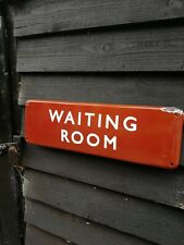 BR WAITING ROOM enamel sign British Rail midland railway train sign reduced