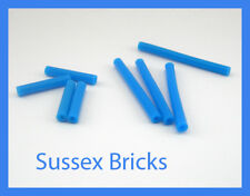 Lego - 8x Blue Pneumatic Hose 4mm V2 (4x 24mm) (4x 48mm) Technic - New Pieces