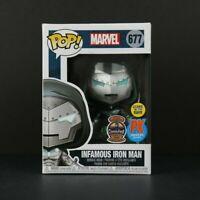Funko Pop! Marvel Infamous Iron Man #677 Glow in The Dark2020 Comic Fest PX