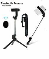 Selfie Stick Tripod Desktop Stand For iPhone Samsung Wireless Bluetooth Remote