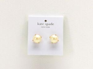 Kate Spade New York Gum Drop Pearl Studs Earrings Goldtone New!