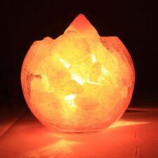 1-Set Natur Himalayan Kristall Salzstein Salzlampe Ersatz Tischlampe Salt Block