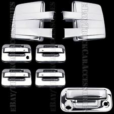 Chrome Covers For FORD F150 2009-2014 Full Towing Mirrors+Doors+Tailgate KH Cam