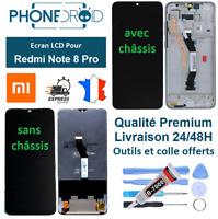 Écran complet LCD + Tactile Xiaomi Redmi Note 8 Pro Black + Outils, stock en Fra