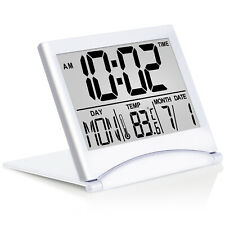 Betus Digital Travel Alarm Clock Foldable Calendar Temperature Timer LCD Clock