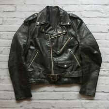 Vintage Schott 418 Leather Perfecto Motorcycle Jacket Size 42 Made in USA Biker