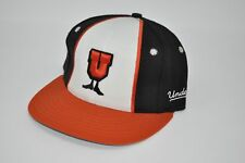 UNDEFEATED Orange Black U-MAN Fitted Hat Cap size S M (H19 dfc5b6f39058