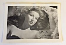 Vintage Greer Garson Studio Photo Signature In Print Autograph Actress Movie WOW