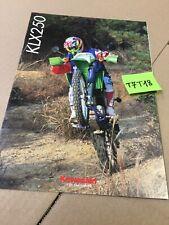 Kawasaki KLX250 250 KLX prospectus catalogue publicité brochure en Italien