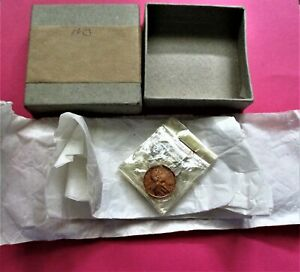 1953 PROOF SET. 5 COIN SET IN CELLOPHANE W/ ORIGINAL TISSUE AND BOX. (2456)