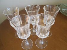 5 Longchamp Cristal d'Arques-Durand 24% Lead Crystal Wine Glass / Goblet