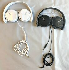 Sony MDRZX110AP ZX Series Extra Bass Smartphone Headset with Mic BLK481 WHT482