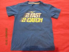 "Official Nike Blue ""2 Fast 2 Catch""  s/s Tshirt - Age 4T - Exc Cond!!"