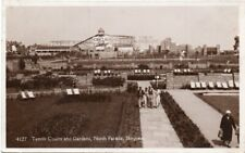 """""""TENNIS COURTS and GARDENS, NORTH PARADE, SKEGNESS"""" OLD REAL PHOTO POSTCARD 1935"""