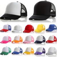 Kids Baby Boys Girls Mesh Breathable Baseball Cap Adjustable Snapback Golf Hat