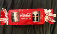 TWO (2) Brand New 2019 Limited Edition Coca-Cola Holiday Coffee Mug Cup Gift Set