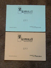 Kimball ELKA EP3 Electronic Organ Schematic Diagram Manual & Parts Catalog E P 3