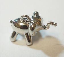 1 Copper Antique Silver Colour Elephant Charm - 3D - 16mm